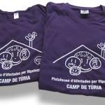 Camisetas camp turia plataforma afectados hipoteca - Valencia Serigrafia