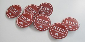 Chapas stop desahucios - Valencia Serigrafia