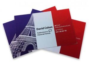 tarjeta visita traduccion y clases frances - valencia serigrafia