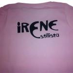 camiseta vinilo irene estilista - valencia serigrafia