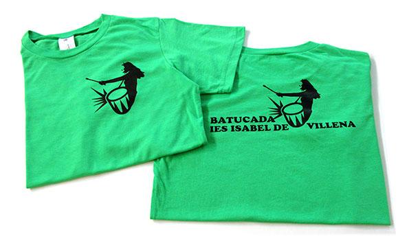 camisetas batucada IES Isabel de Villena