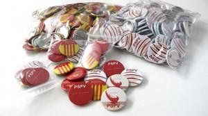 chapas PSPV partido socialista pais valencia - valencia serigrafia