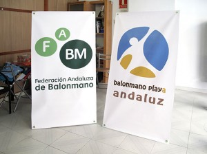 displays federacion andaluza balonmano playa