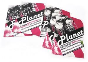 Flyers A6 para Pub Planet - Serigrafía e impresión digital en Valencia
