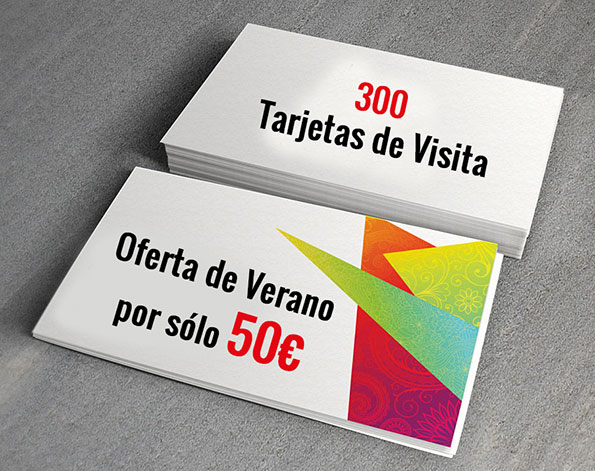 oferta tarjeta de visita verano - valencia serigrafia