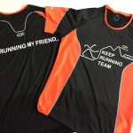 estampacion vinilo camisetas keep running team - valencia serigrafia
