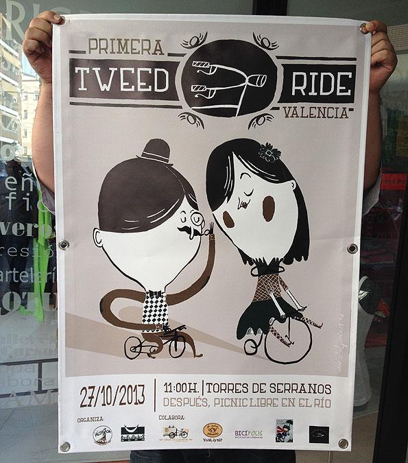 lona valencia en bici - valencia serigrafia