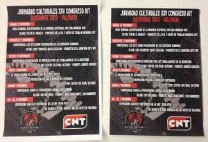 carteles impresion digital CNT congreso internacional cultural - valencia serigrafia