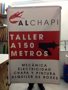 lona publicitaria taller alchapi - valencia serigrafia