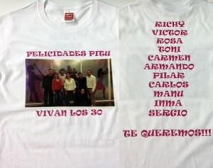 camiseta cumpleaños vinilo textil transfer - valencia serigrafia