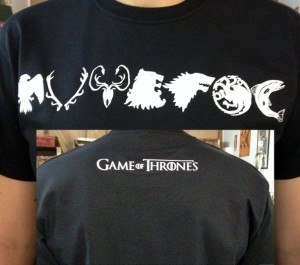 camiseta estampacion vinilo-textil juego de tronos - valencia serigrafia