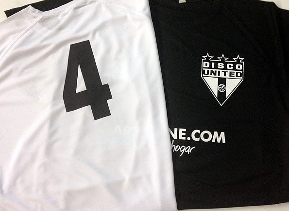 camiseta futbol 7 vinilo textil - valencia serigrafia