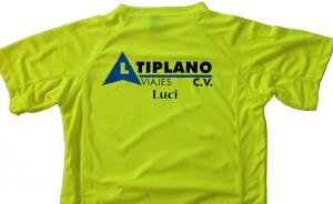 camiseta tecnica vinilo altiplano viajes - valencia serigrafia