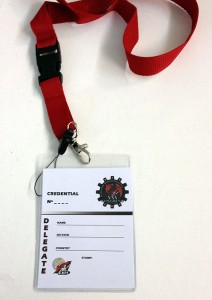 credenciales impresion digital congreso cnt - valencia serigrafia