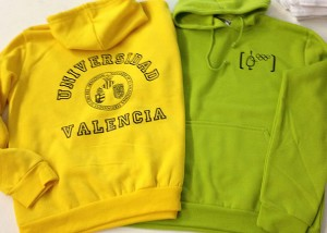 sudaderas impresion serigrafia universidad valencia - valencia serigrafia