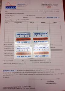 talonarios contrato adhesivos serigrafia mercabalanza - valencia serigrafia