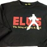 camiseta vinilo elvis presley - valencia serigrafia