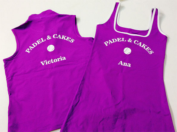 ropa juego vinilo padel cakes - valencia serigrafia