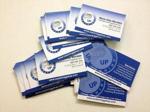 tarjetas visita impresion digital coaching get up - valencia serigrafia