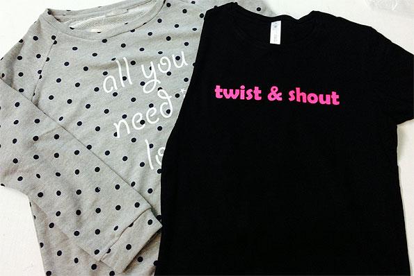 camisetas vinilos textil varios colores - valencia serigrafia