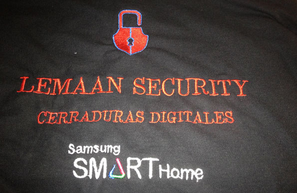 polos bordados lemaan security - valencia serigrafia