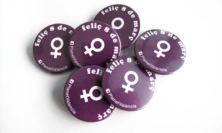 Chapas Día de la Mujer - Valencia Serigrafía