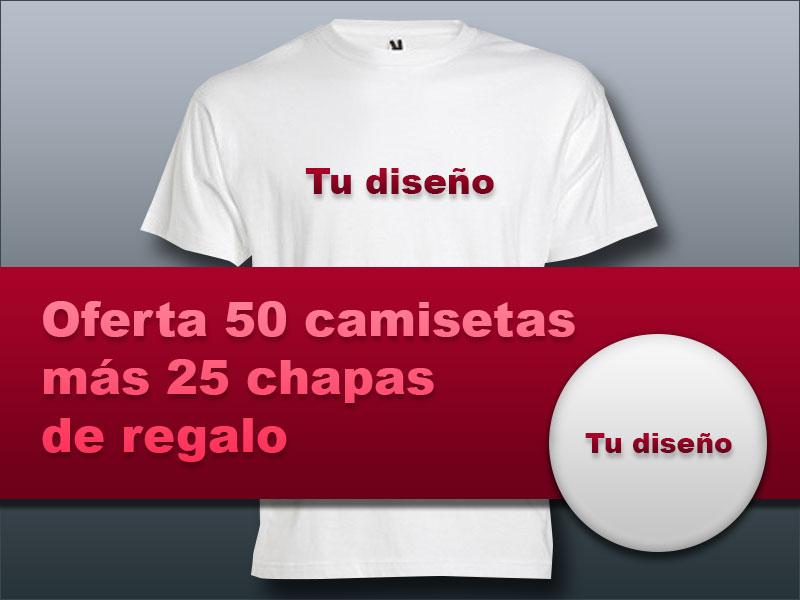 Oferta camisetas más chapas - Valencia Serigrafía