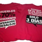 camiseta ofertas muebles - valencia serigrafia