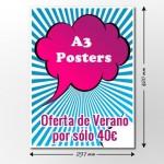 oferta carteles a3 verano - valencia serigrafia