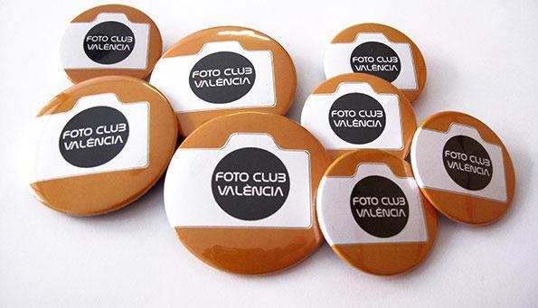 chapas fotoclub valencia - valencia serigrafia