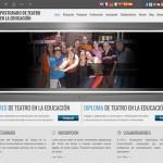 diseño web postgrado teatro educacion - valencia serigrafia