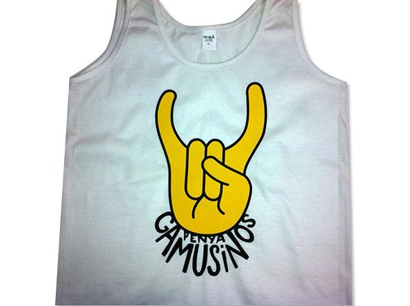 camiseta vinilo penya gamusinos - valencia serigrafia