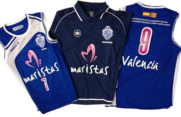 camisetas baloncesto infantil maristas valencia - valencia serigrafia