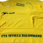 camisetas vinilo textil comite tecnico arbitros balonmano sevilla - valencia serigrafia