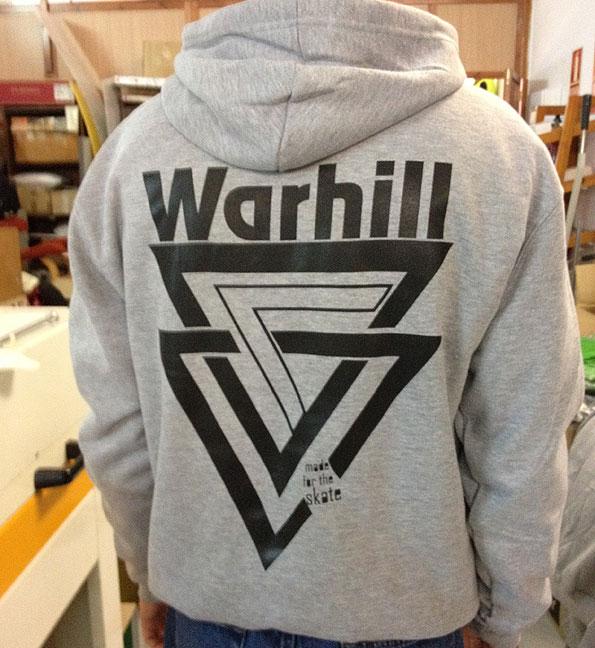 sudadera serigrafia warhill - valencia serigrafia
