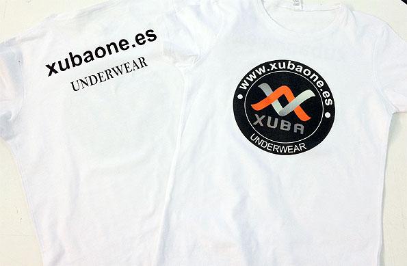 camiseta vinilo transfer xuba underwear - valencia serigrafia